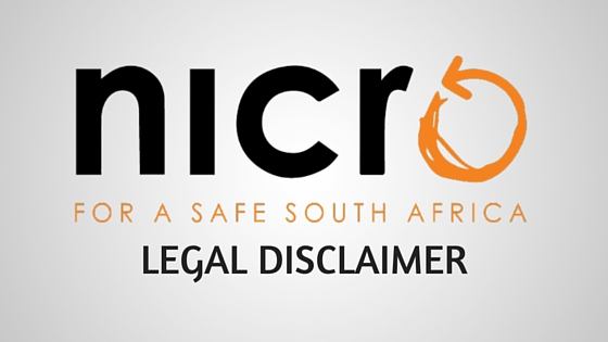 NICRO legal disclaimer